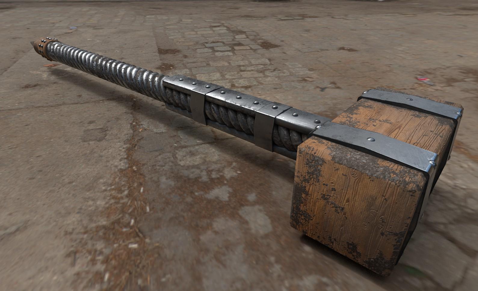 Procedurally generated Viking Hammer by Tobias Steiner